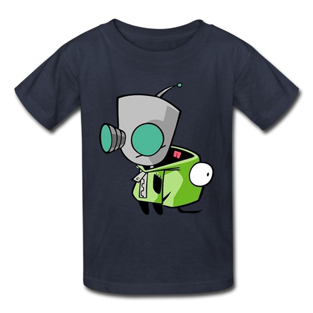 6-24 Month Baby T-Shirt Invader Zim Gir Doom Logo Personalized Fashion Customization Navy