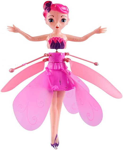 Uyuke Flying Fairy Doll Induction Control RC Aircraft Kids Toys Ballet Girl Flying Princess Toy