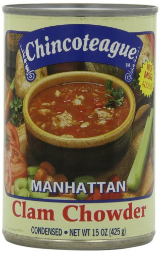 Chincoteague Seafood Manhattan Clam Chowder, 15-Ounce Cans (Pack of - Clam Chowder Manhattan