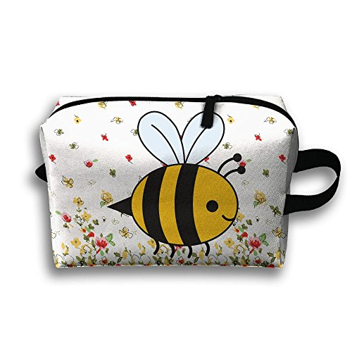 Bumblebee Travel Bag Cosmetic Bags Brush Pouch Portable Makeup Bag Zipper Wallet Hangbag Pen Organizer Carry Case Wristlet Holder ()
