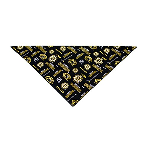 Precious Paw Prints Boutique Boston Bruins Dog Bandana (Large: 14-20 inches)