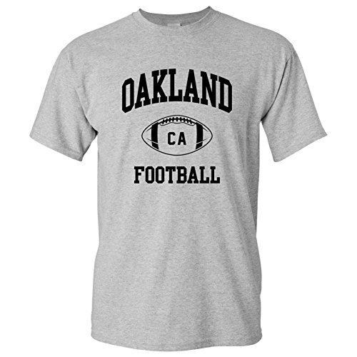 - Oakland Classic Football Arch Basic Cotton T-Shirt - Large - Sport Grey