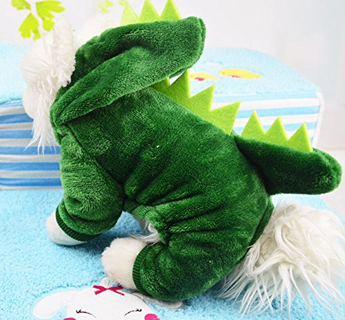 Dogs Clothes Small Pet Costume Halloween Dinosaur Costume Dog Clothing Puppy Outfits Funny Apperal (XL)