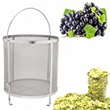 Funnytoday365 Stainless Steel Beer Wine House Home Brew Filter Basket Strainer Hip Spider Cylinder Bar Tools
