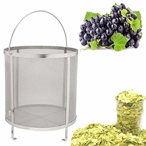 Funnytoday365 Stainless Steel Beer Wine House Home Brew Filter Basket Strainer Hip Spider Cylinder Bar Tools by FunnyToday365