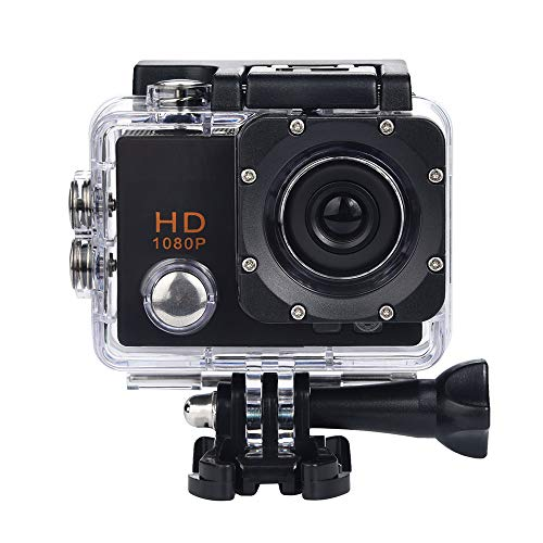 Fan-Ling Waterproof Camera,HD 1080P Sports Action Camera, DVR Camera DV Video Camcorder,Under Water Camera,Small Advanced Security Motion Camera,Super Lightweight,Small Size (Black)