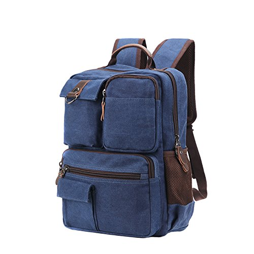 Travel Outdoor Computer Backpack Laptop bag big (darkblue) - 7