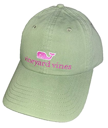 Vineyard Vines Whale Logo Baseball Hat - White Cap OS (Olive Branch, One Size) (Vineyard Women Hat)
