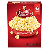 Orville Redenbacher Popcorn - Microwave Extra Buttery(6 x Pack of 6 - 36 bags total)