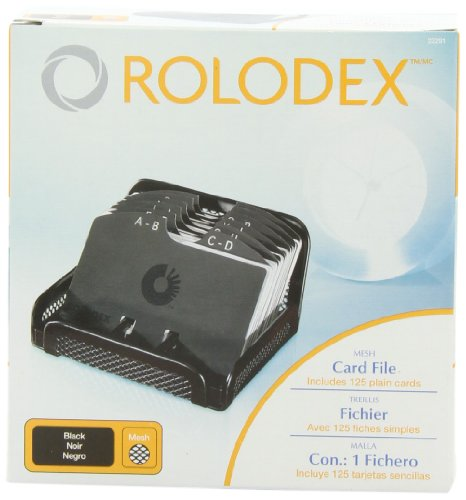 Rolodex Card File, MESH Open Business Card File 125-Cards 2-1/4