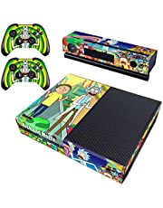 Decal Moments Regular Xbox One Skin Set Vinyl Decal Skin Stickers Protective for Xbox One Console Kinect 2 Controllers Rick and Morty