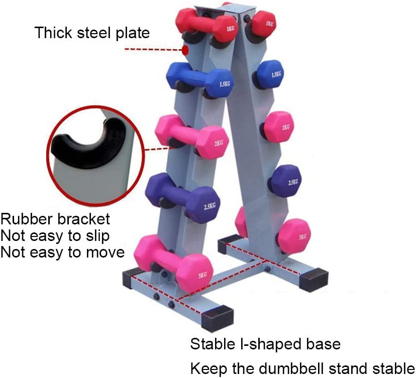 HAI+ Dumbbell Storage Rack Stand Holder, Solid Steel Dumbbell Rack Holder, A-Frame 3 Tier Weight Dumbbell Storage Racks, Free Weights Dumbbells Set for Home Gym Exercise (3 Tier) : Sports & Outdoors