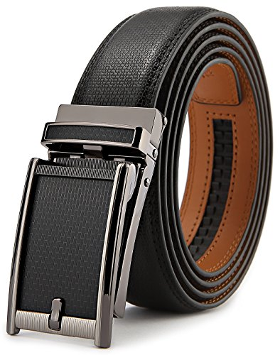 Belt for Men,Bulliant Men's Click Ratchet Belt Of Genuine Leather,Trim to -