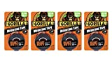 Gorilla Heavy Duty Mounting Tape, Double-Sided, 1'' x 60'', Black - 4 Pack