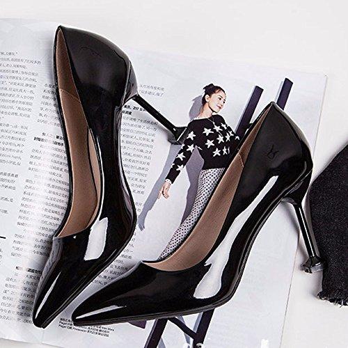 Arbeitsschuhe Weibliche Spitz High Mit Mit Schuhen Heels Ol Spring Professionellen YZ0SxP