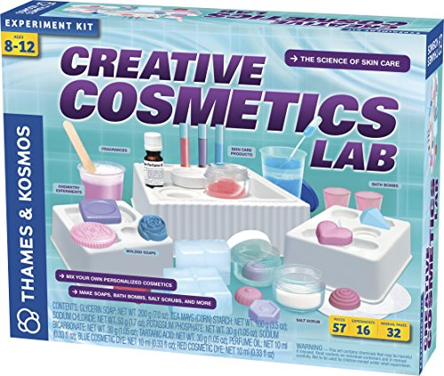 Thames & Kosmos Creative Cosmetics Lab Science Kit | 16 Experiments Including Soaps, Bath Bombs, Salt Scrubs | Toy of The Year Finalist | Parents' Choice Silver Award Winner ()