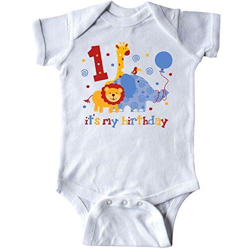 inktastic - Safari 1st Birthday Infant Creeper 12 Months White 60e4