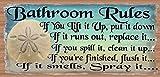 Beach Bathroom Decor Bathroom Rules - Bathroom Decor - Bathroom Plaque
