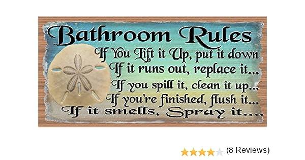 Amazon com  Bathroom Rules   Bathroom Decor   Bathroom Plaque  Home  amp  Kitchen. Amazon com  Bathroom Rules   Bathroom Decor   Bathroom Plaque