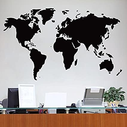 Wallmantra world map vinyl wall decal sticker do it yourself home wallmantra world map vinyl wall decal sticker do it yourself home decor 165 x 100cm gumiabroncs Images
