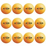 GOGO 12 Pieces 3-Star Orange Ping Pong Balls Professional (2 Tubes)-Orange