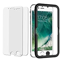 """iPhone 8 Screen Protector, JETech 2-Pack iPhone 8 7 6s 6 Tempered Glass Screen Protector Film with Easy-Installation Tool for Apple 4.7"""" iPhone 8, iPhone 7, iPhone 6s, iPhone 6"""