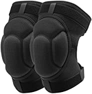 EULANT Protective Knee Pads 1Pair, Thick Sponge Collisioned Kneepads for Sports & Work & Warmth &