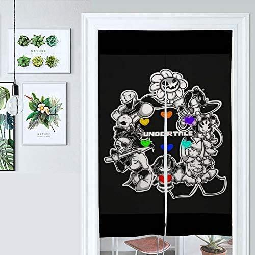 Door Curtain Splice な アンダーテール 和風戸口カーテンタペストリー居酒屋ショップルームエントランスパーティションリネン印刷、86x143cm