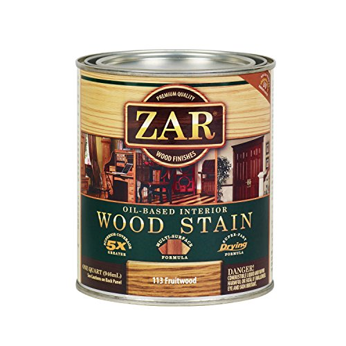 - ZAR 11344 Wood Stain, QT, Fruitwood