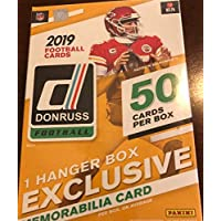 $52 » 2019 Donruss Football Factory Sealed Hanger Pack Box 50 Cards Per Box with 1 HANGER…