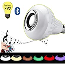 Music LED Light Bulb Bluetooth Speaker 6W E27 RGB Color Changing Lamp with Remote Control