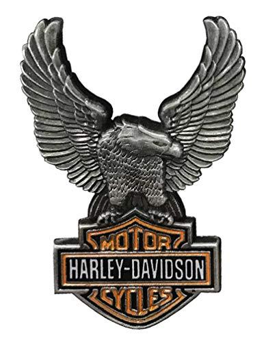 Harley-Davidson 1.5 in. Up-Winged Eagle Bar & Shield Pin, Antique Finish ()