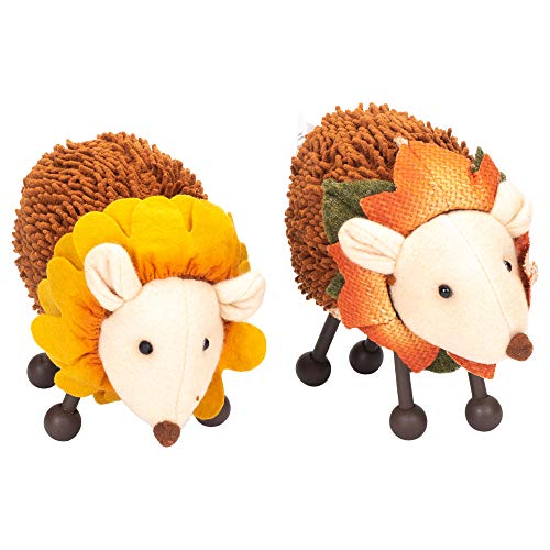 Hanna's Handiworks Sunflower Hedgehogs Large 4 x 7 Inch Plush Polyester Figurines Assorted Set of ()