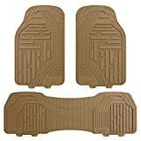 FH GROUP FH-F11322 Supreme Rubber Trimmable Heavy Duty Floor Mats, Solid Beige