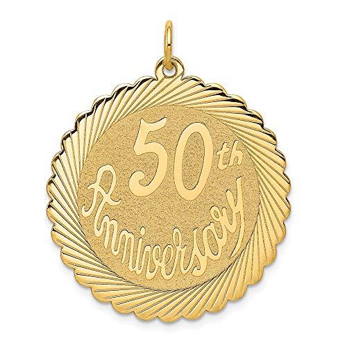 Gold 50th Anniversary Charm - 8