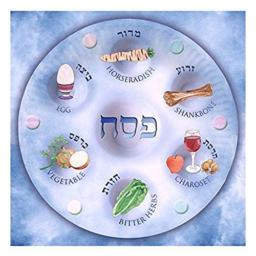 Plate Passover Matzah (Passover Serviettes, Biodegradable Serviettes for Passover for Leil Seder, Design of Seder Plate (Paper Napkins))