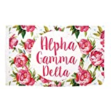 Cheap Alpha Gamma Delta Rose Pattern Letter Sorority Flag Banner Greek Letter Sign Decor Alpha Gam