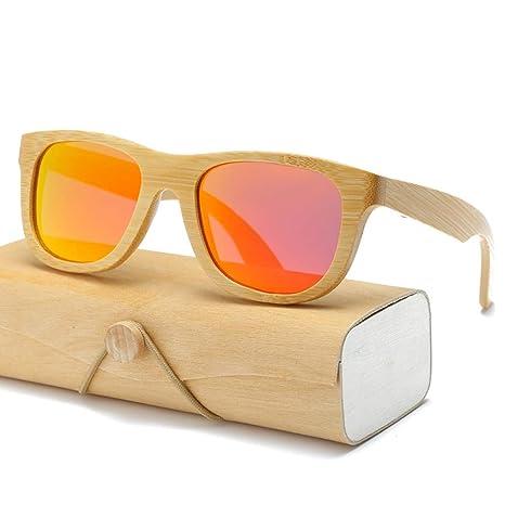 Gafas De Sol.La Madera De Bambú Cuadrados Mujeres Hombres ...