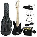 "ZENY 30"" Kids Electric Guitar with Amp and Much More Guitar Combo Accessory Kit, Black"