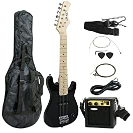 ZENY 30 inch Kids Electric Guitar with 5w Amp, Gig Bag, Strap, Cable, Strings and Picks Guitar Combo Accessory Kit…