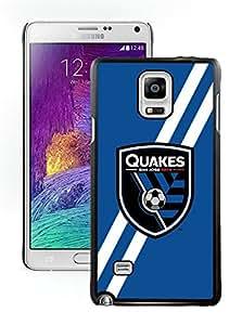 Fashionable And Antiskid Designed MLS san jose earthquakes Samsung Galaxy Note 4 N910A N910T N910P N910V N910R4 Case Cover 03 Black