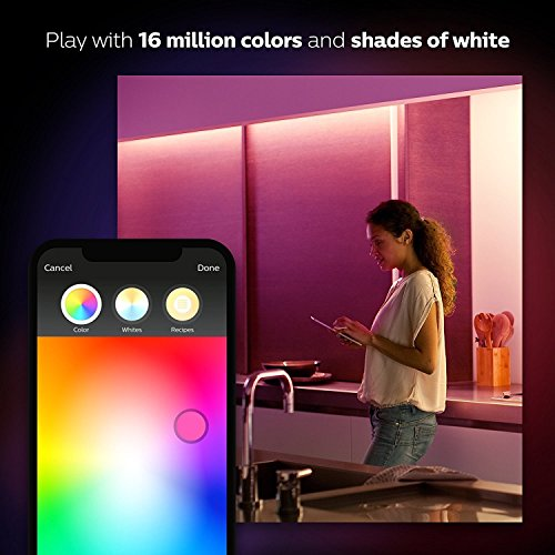 Large Product Image of Philips Hue LightStrip Plus Dimmable LED Smart Light (Compatible with Amazon Alexa, Apple HomeKit, and Google Assistant) (Certified Refurbished)
