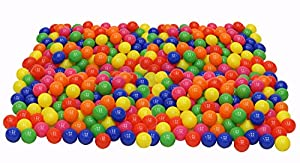 Click N' Play Value Phthalate Free BPA Free Crush Proof Plastic Ball, Pit Balls - 6 Bright Colors in Reusable and Durable Storage Mesh Bag with Zipper from Click N' Play
