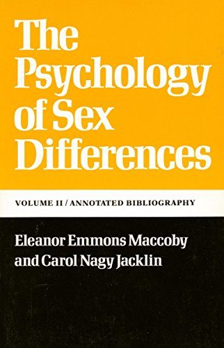 The Psychology of Sex Differences  Vol. II: Annotated Bibliography