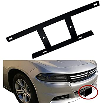 Front Universal License Plate Re-locator Bracket Holder Mount Support Tag