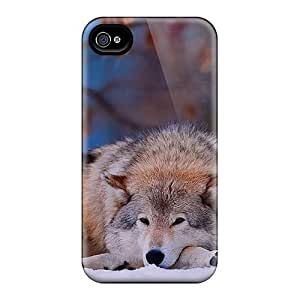 New Wolf In The Snow Cases Compatible With Diy For HTC One M7 Case Cover