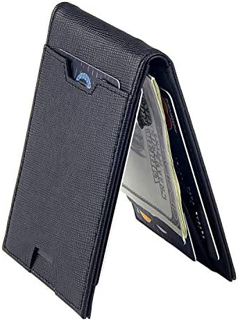 Men Bifold Wallet Money Clip