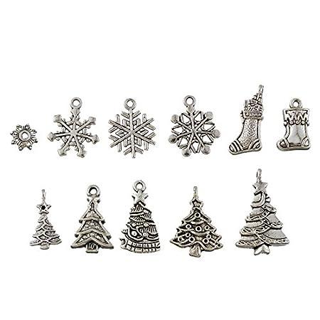 Tibetan Silver XMAS Christmas Theme Charms Pendant Craft Jewellery Gift ML