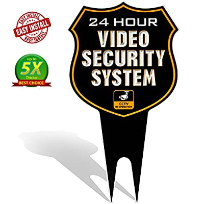 24 Hour SHIELD Video Security CCTV System in Operation Metal Yard Sign