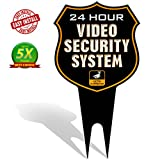 #5: Signs Authority 24 Hour SHIELD Video Security CCTV System in Operation Metal Yard Sign